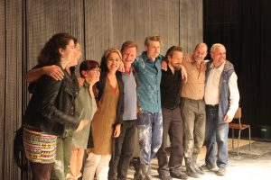 Large group of Belgian actors
